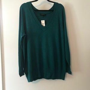 Lane Bryant Green V-Neck Sweater